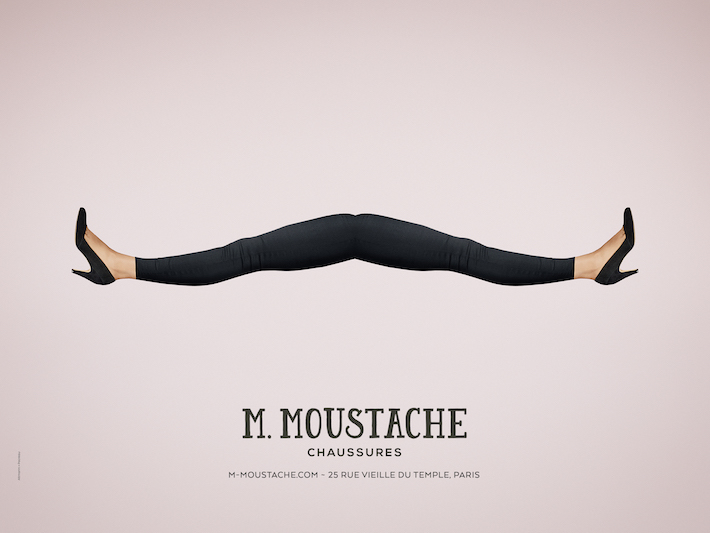 affiches M MOUSTACHE Mode Luxe