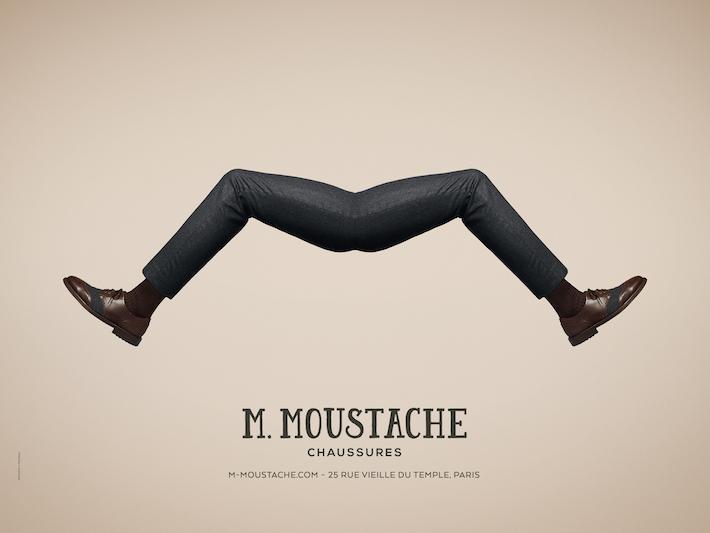 affiches M MOUSTACHE Mode Luxe 1