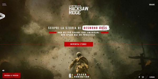 site internet - La battaglia di Hacksaw Ridge
