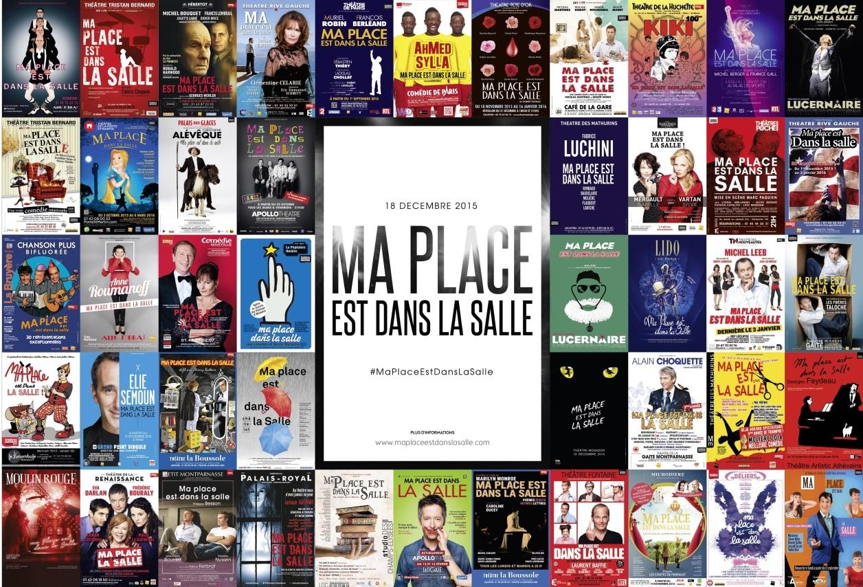 affiches publicitaires revenir les Parisiens dans les salles de spectacles