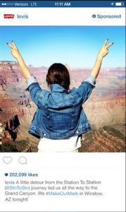 Levis, publicité instagram