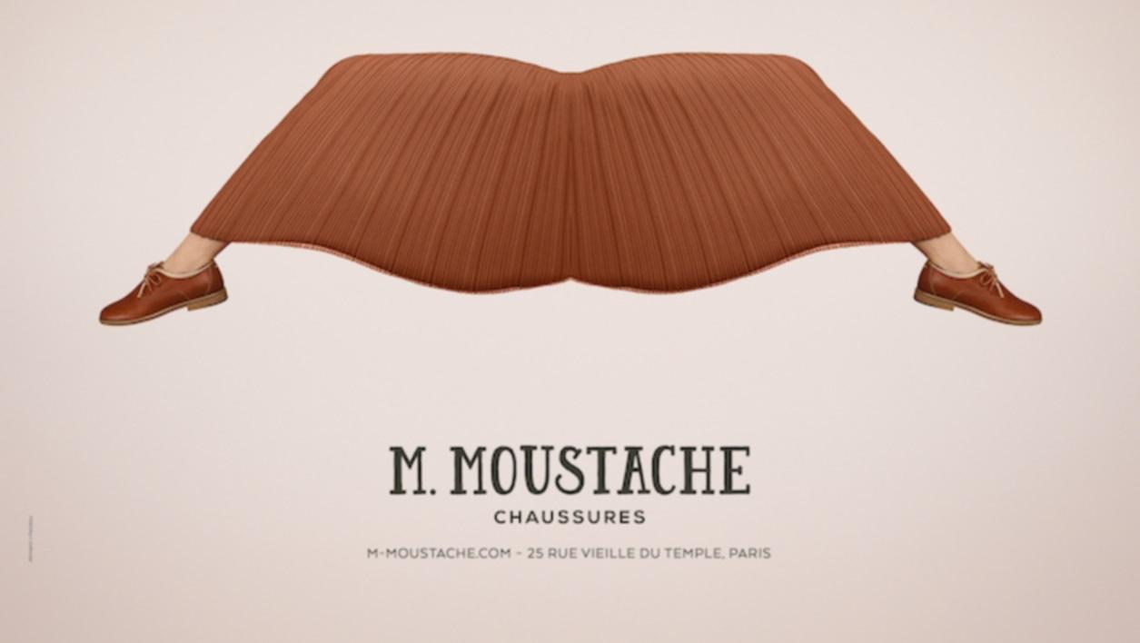 M. Moustache chaussure affiches