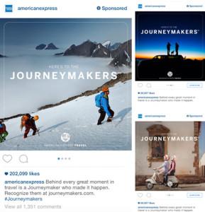American Express, publicité Instagram