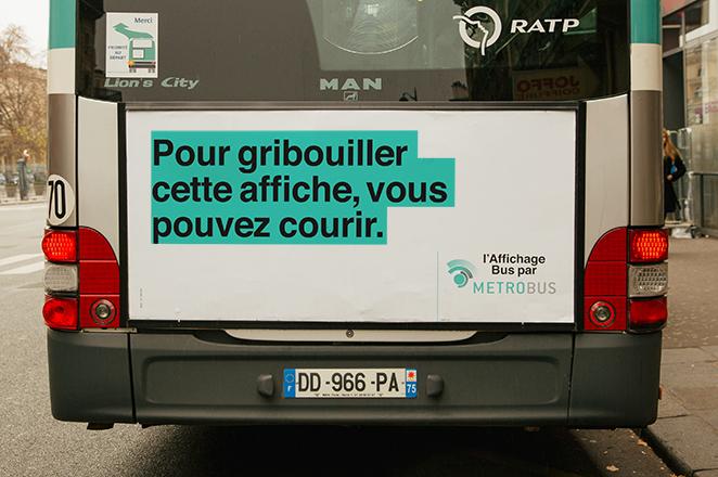 affiches Metrobus campagne RATP